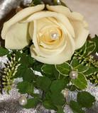 white wedding rose spray poster