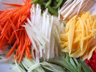 slivered veggies