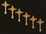 diagonal gold crosses poster