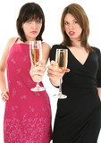 ladies toasting champagne poster