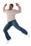 african american male jumping poster