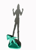army man with shadow showing winning and losing poster