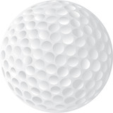 golf ball illustration poster