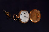 antique gold pocket watch poster
