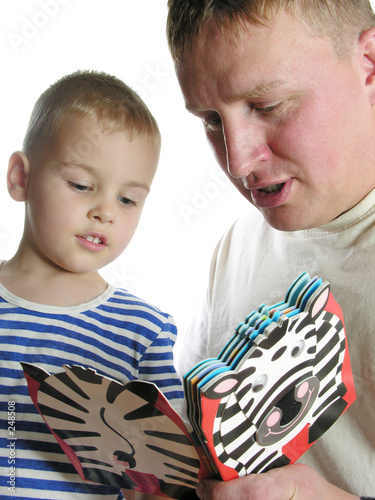 father read book son