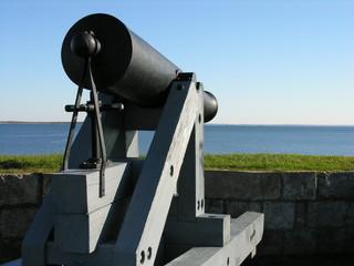 cannon facing the sea.