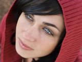 hooded girl poster