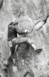 man climbing poster