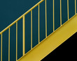 yellow metal staircase
