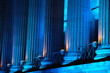 les colonnes bleues