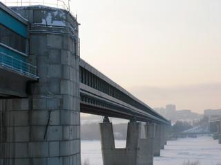 subway bridge over river ob