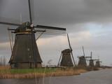 dutch windmills in kinderdijk 1 poster