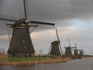 dutch windmills in kinderdijk 1