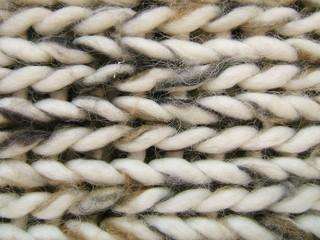 macro d'un pull en laine