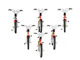 bicycles in formation poster