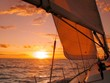 canvas print picture - sailing to the sunset