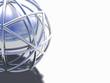 shiny, caged globe
