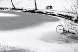 bike on ice poster