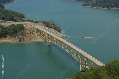 poster of lake sonoma bridge