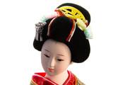 geisha doll portrait poster