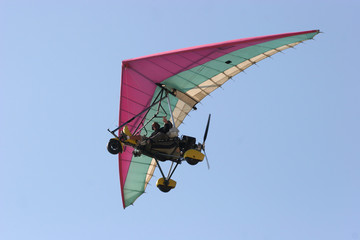 microlight in flight