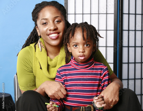 mommy and cute son