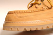 suede shoe detail macro