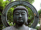 buddha head statue-detail poster