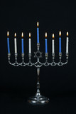 menorah and candles poster