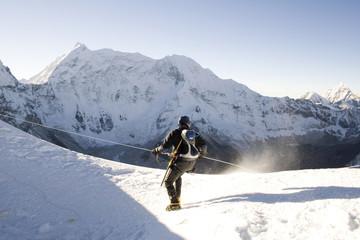 alpine climber - nepal