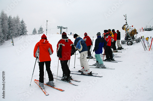 skiers trainings