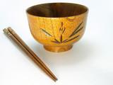 wooden bowel and chopsticks poster