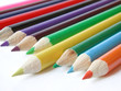 yellow pencil crayon isolated