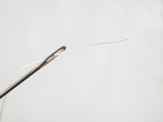 threaded needle