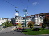 centre area at mont tremblant, quebec poster