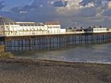 Brighton pier in dramatic light poster