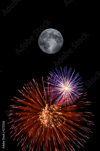 poster of full moon and fireworks
