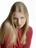 pouty blonde poster