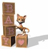 pink baby blocks poster