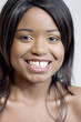 attractive young black woman smiling
