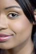 close-up of an attractive young black woman