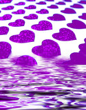 purple heart abstract poster