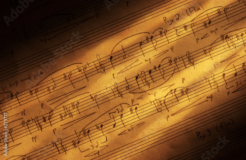 canvas print picture handwritter sheet music