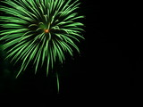 big green firework - copy space poster