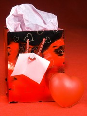 gift bag heart