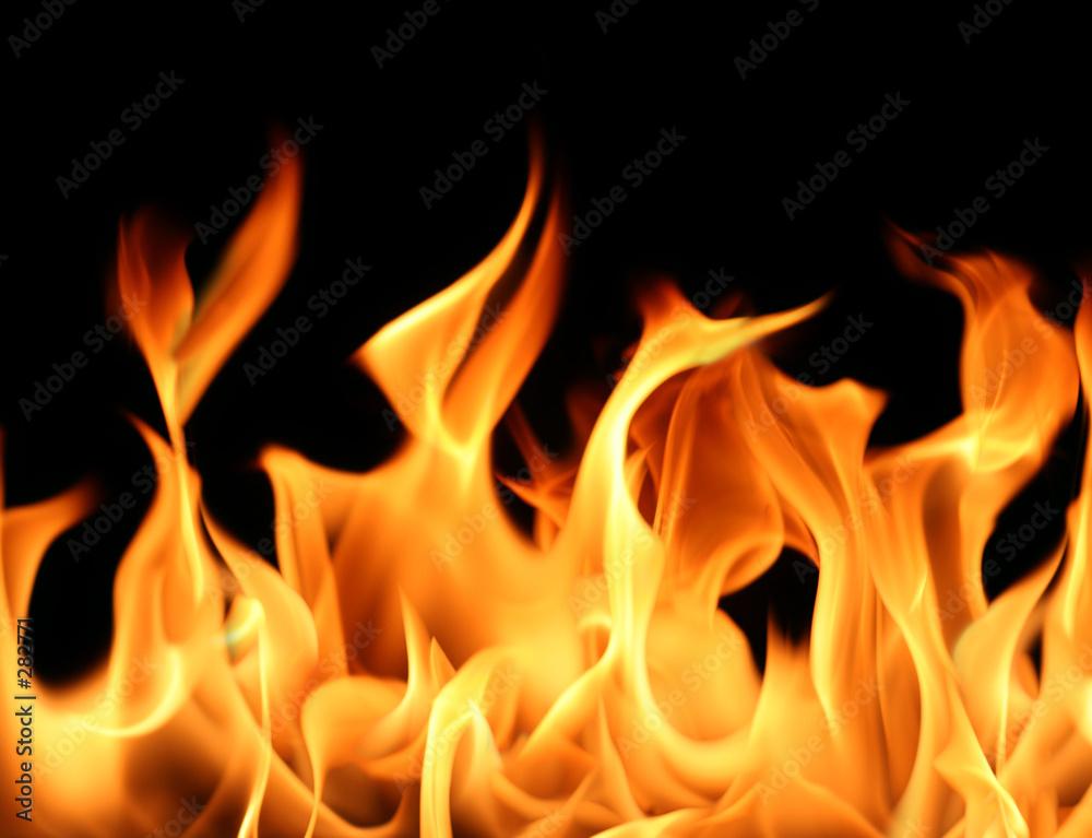 spalony detal ogień - powiększenie