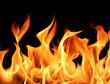Leinwandbild Motiv flames background