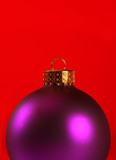 extreme close-up of a xmas ornament poster
