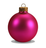 pink ornament with clipping path poster