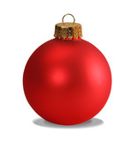 red ornament with clipping path poster